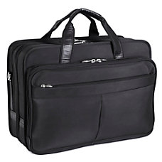 McKlein Walton Nylon Expandable Briefcase Black