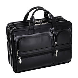 McKlein Hubbard Leather Briefcase, Black Item# 515390 at Office Depot in Cypress, TX | Tuggl