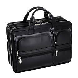 McKlein Hubbard Leather Briefcase, Black Item# 515390 | Tuggl