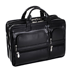 McKlein Hubbard Leather Briefcase Black