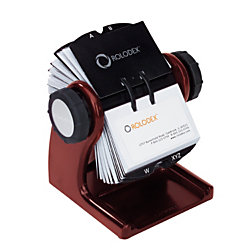 Rolodex® Rotary Card File, 200-Card Capacity, Wood Tones, Mahogany