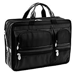 McKlein Hubbard Nylon Briefcase Black