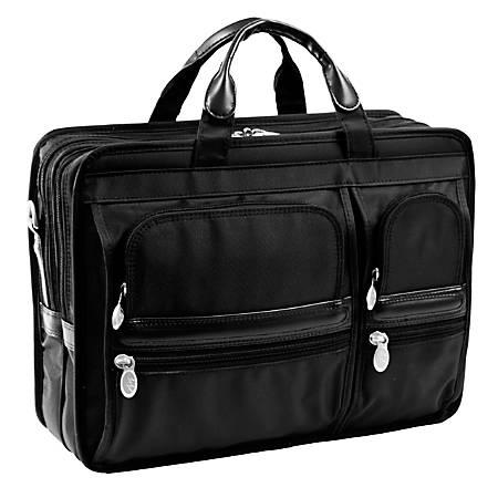 McKlein Hubbard Nylon Briefcase, Black