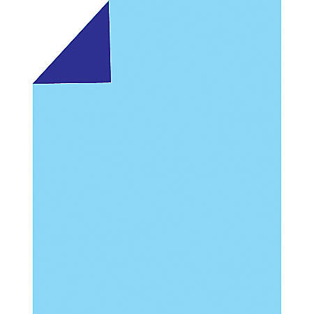 """2 Cool Colors Poster Boards, 22"""" x 28"""", Dark Blue/Light Blue, Pack Of 3"""