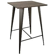 Lumisource Oregon Industrial Table Square EspressoAntique