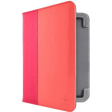 Belkin Classic Tab Cover - Protective cover for tablet - pink - for Amazon Kindle Fire HD