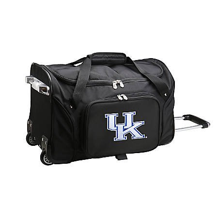 Denco Sports Luggage Rolling Duffel Bag, Kentucky Wildcats, Black