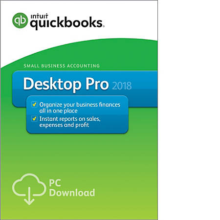QuickBooks Desktop Pro Download Version By Office Depot OfficeMax - Download quickbooks products