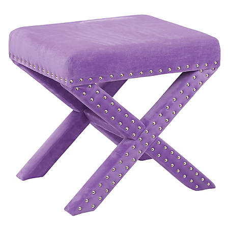Office Star™ Accents Katie Bench, Purple