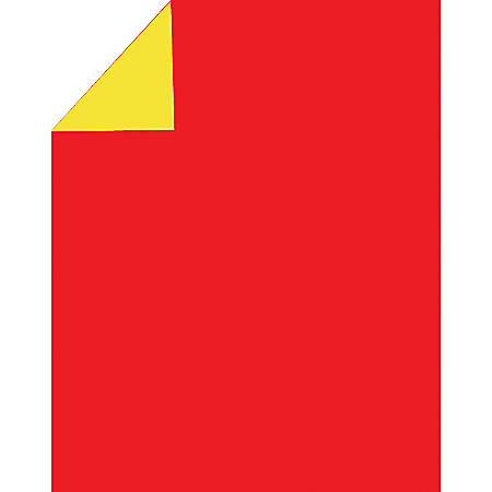 "2 Cool Colors Poster Boards, 22"" x 28"", Red/Yellow, Pack Of 3"