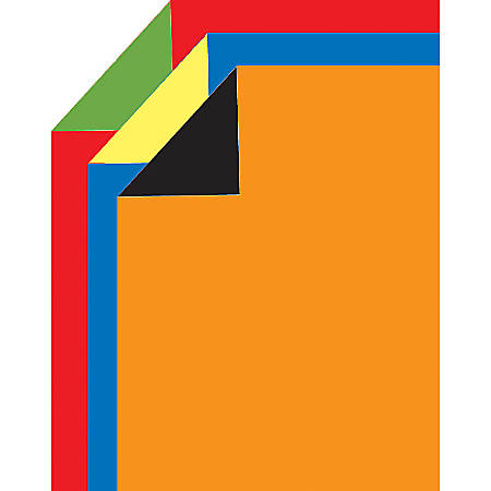 """2 Cool Colors Poster Boards Variety Pack, 14"""" x 22"""", Black/Orange, Blue/Yellow, Green/Red, Pack Of 3"""