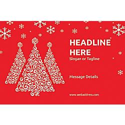 Adhesive Sign Red Christmas Horizontal