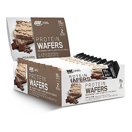 OPTIMUM NUTRITION Protein Wafers Protein Snack Mocha Creme, 1.48 oz, 9 Count