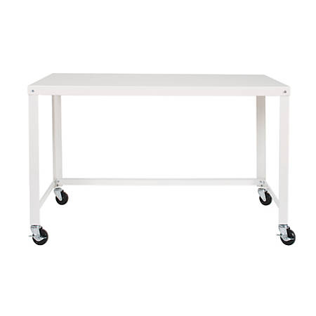 Lorell® Steel Mobile Series Workstation, 4'W, White