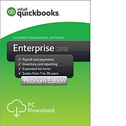 QuickBooks Desktop Enterprise Platinum 2018 30