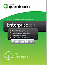 QuickBooks Desktop Enterprise Platinum 2018 30