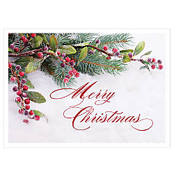 Personalized Holiday Cards Frosted Berries 7