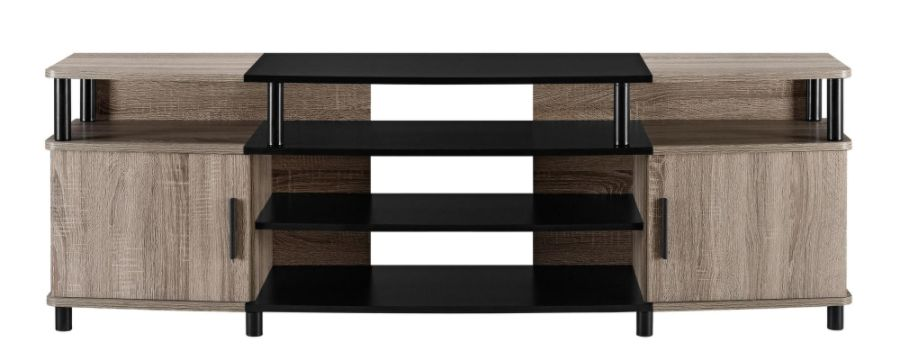 Altra Carson Engineered Wood TV Stand For 70 Flat Screen TVs Sonoma