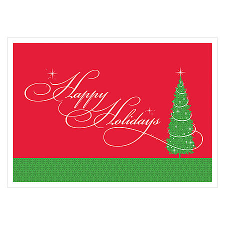 personalized economy holiday cards christmas magic - Office Depot Christmas Cards