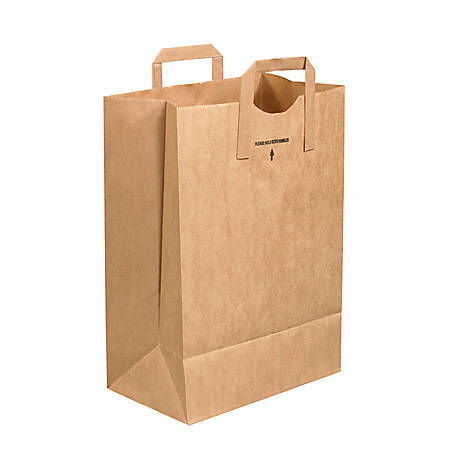 "Partners Brand Flat Handle Grocery Bags 12"" x 7"" x 17"", Case of 300"