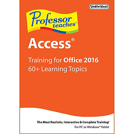 Professor Teaches Access 2016, Download Version