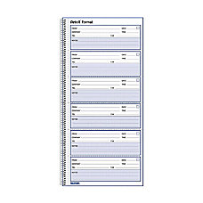 Rediform Voice Mail Log Book 600