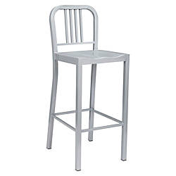 Lorell Metal Bistro Chairs Silver Set