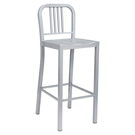 Lorell® Metal Bistro Chairs, Silver, Set Of 2