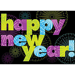 Personalized New Year Cards Bursting With