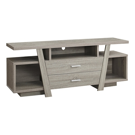 """Monarch Specialties Madison TV Stand, 23-3/4""""H x 60""""W x 15-1/2""""D, Dark Taupe"""