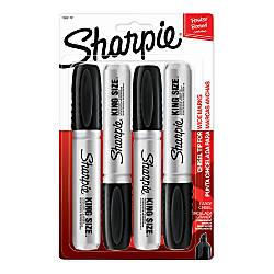 Sharpie Metal Barrel Chisel Tip Kingsize Marker Blk Pack Of 5