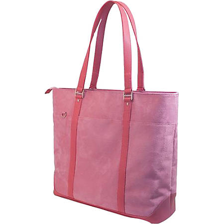 Mobile Edge Komen Tote Pink Faux-Suede