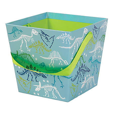 "Amscan Iridescent Paperboard Dinosaur Easter Buckets, 7-5/8""H x 7-13/16""W x 7-13/16""D, Set Of 3 Buckets"