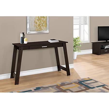 Monarch Specialties Computer Desk With Storage Drawer, Cappuccino