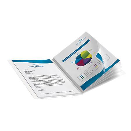 Office Depot® Brand Custom Showfile™ Display Books, 12 Pockets, White