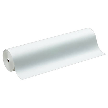 "Sparco Art Project Paper Roll, 36"" x 1000', 50% Recycled, White"