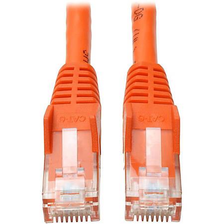Tripp Lite 10ft Cat6 Gigabit Snagless Molded Patch Cable RJ45 M/M Orange 10'