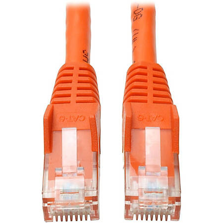 Tripp Lite 14ft Cat6 Gigabit Snagless Molded Patch Cable RJ45 M/M Orange 14' - 14ft - 1 x RJ-45 Male - 1 x RJ-45 Male - Orange