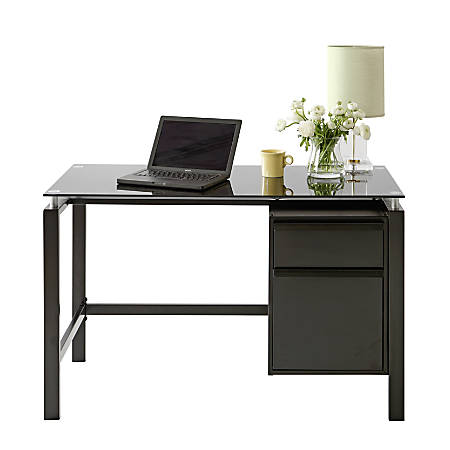 Realspace® Lake Point Writing Desk, Black