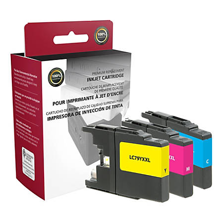 Clover Imaging Group ODLC79CMY (Brother LC793PKS) Extra-High Yield Remanufactured Cyan/Magenta/Yellow Ink Cartridges