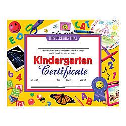 Hayes Publishing Certificates Kindergarten 8 12