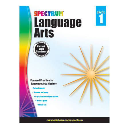 Carson-Dellosa Spectrum Language Arts Workbook, Grade 1