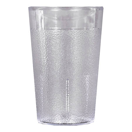 Carlisle Stackable SAN Plastic Tumblers, 5 Oz, Clear, Pack Of 72