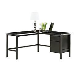 Realspace Lake Point L Desk Black