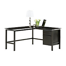 Realspace Lake Point L Desk Black