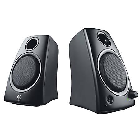 d36eb3dbbdd Logitech Z130 2 Piece Speaker System black - Office Depot