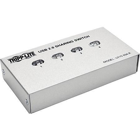 Tripp Lite 4-Port USB 2.0 Hi-Speed Printer / Peripheral Sharing Switch