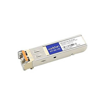 AddOn MSA and TAA Compliant 1000Base-CWDM SFP Transceiver (SMF, 1450nm, 40km, LC)