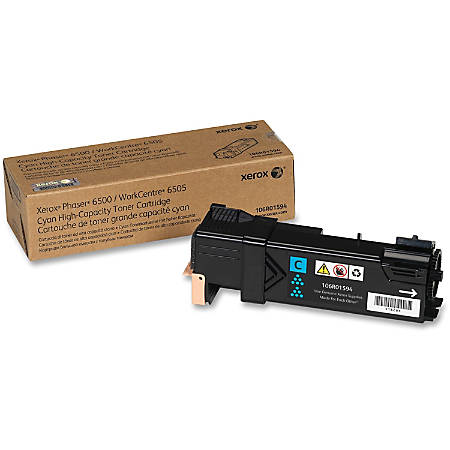 Xerox® Phaser™ 6500 High-Yield Cyan Toner Cartridge (XER106R01594)