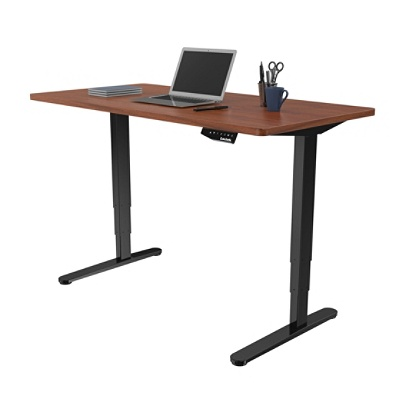 Loctek Electric Height Adjustable Stand Up Desk Blackmahogany